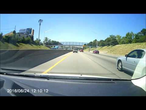 Dashcam Car Accident - I-94 (Detroit)