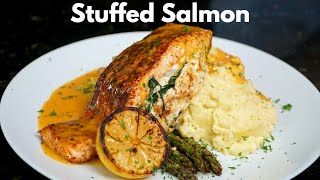 How To Make Stuffed Salmon Easy \u0026 Delicious Salmon Recipe