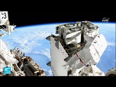 بيسكيه وكيمبرو يقومان بمهمة نشر ألواح شمسية في محطة الفضاء الدولية.. هل ستنجح؟  - 17:57-2021 / 6 / 17