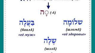Урок № 21.  Местоименные суффиксы единичного объекта