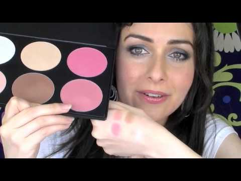 blush professional blush and contour palette 6 colour color palette review with swatches youtube. Black Bedroom Furniture Sets. Home Design Ideas