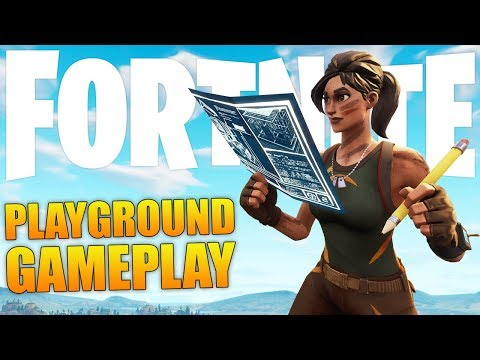 Playing Playground Right Now Playground Ltm Is Finally Out Fortnite Battle Royale Gameplay