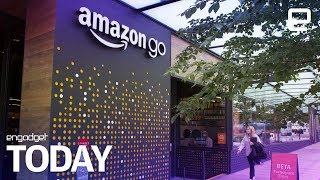 Amazon's first cashierless 'Go' supermarket opens for business | Engadget Today