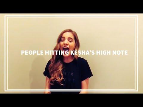 5 PEOPLE HITTING KESHA'S HIGH NOTE! | Part 1