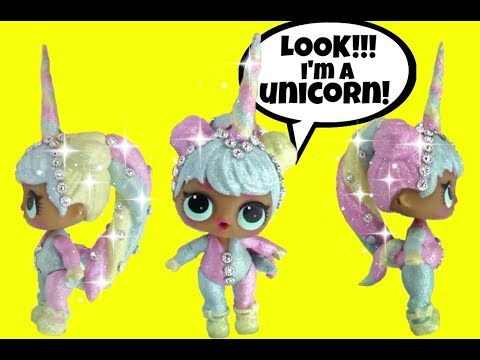 LOL Surprise Dolls STUNNING GLITTER UNICORN CUSTOM 🦄 Series 2 Baby Doll Blind Bag Balls family fun
