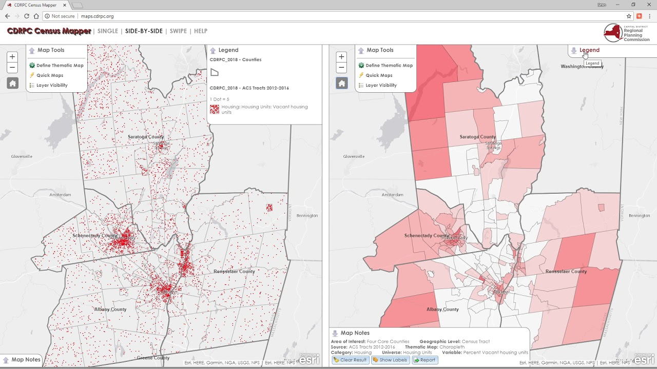 Census Mapper Application Overview - CDRPC Video Tutorial on