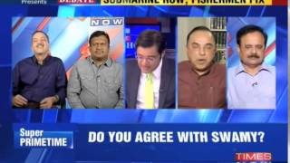 Subramanian Swamy calling Arnab Goswami a Liar - Shorter Version