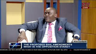 What is the opposition's stand on the proposed bail amendments   ON THE SPOT