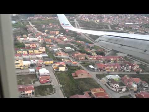 Aterrizaje en Toncontin, Tegucigalpa, Landing in Toncontin, Tegucigalpa