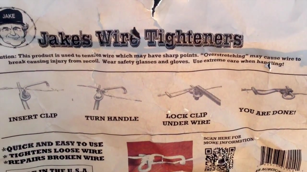 Jake s wire tighteners for barbwire fencing youtube