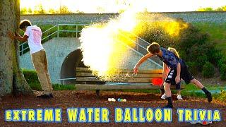 Extreme Water Balloon Challenge! (MattyBRaps + Ivey vs Justin)