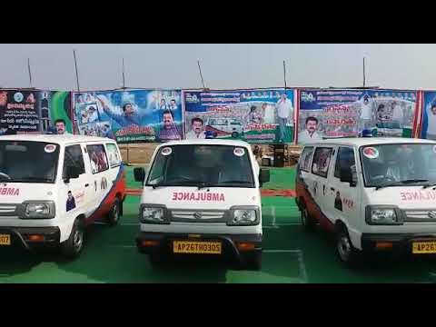 KRPR charitable trust ambulance opening in sydhapuram mandalam lo jagan Anna chethulamidhuga opening