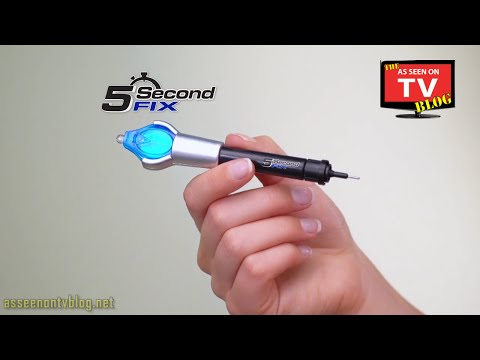 5 Second Fix Commercial As Seen On TV Buy 5 Second Fix As Seen On TV Plastic Repair Epoxy