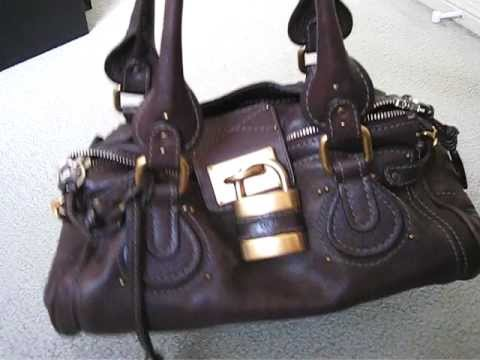 Chloe Paddington handbag - review and what fits inside - YouTube