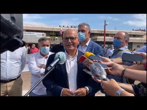 Alcaldes y concejales del PP se concentran ante el Concello de Vigo contra el acuerdo de la FEMP