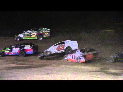 Limited Sportsman Feature Wreck at Albany-Saratoga Speedway 4-25-14