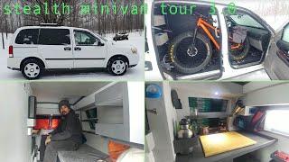 Stealth Minivan Dwelling Tour 3.0