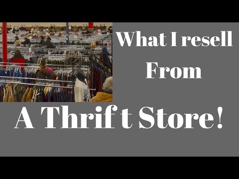 WHAT TO RESELL FROM A THRIFT STORE - SEE OUR FINDS!