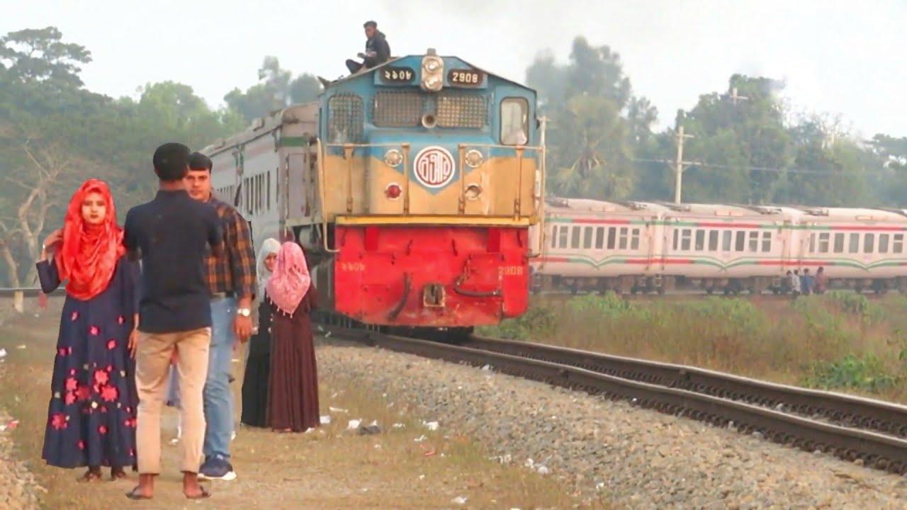 Intercity Mohanagar  Express Takes a massive curve at Akhaura  Bypass ||??