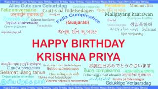 KrishnaPriya   Languages Idiomas - Happy Birthday