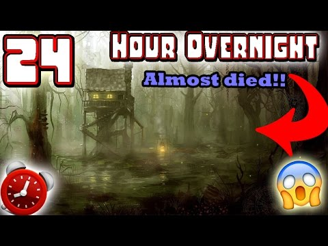 (ALMOST DIED) 24 HOUR OVERNIGHT CHALLENGE IN HAUNTED SACRIFICE GROUNDS!! ⏰