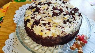 Торт к празднику или к домашнему чаепитию Шоколадный торт на кефире простой и вкусный