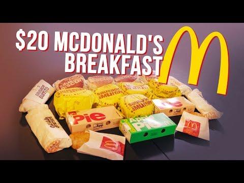 MCDONALD'S BREAKFAST $20 VALUE MENU CHALLENGE!!