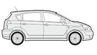 How to Draw a Toyota Corolla Verso / Как нарисовать Toyota Corolla Verso