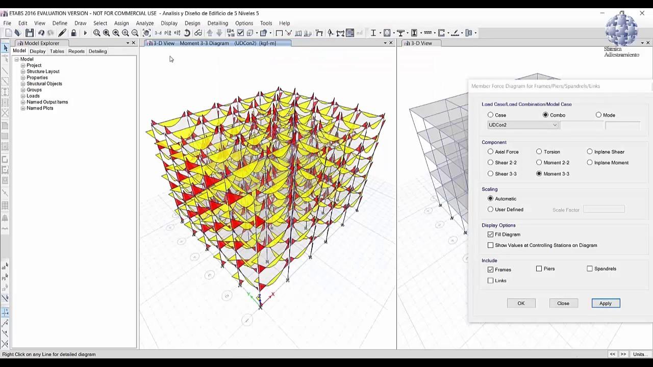 ETABS®: P5 - Visualización de resultados - YouTube