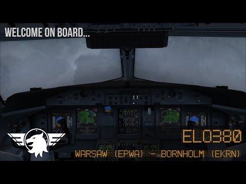 Welcome on board... ELO380 | Warsaw (EPWA) - Bornholm (EKRN) | FSX | Majestic Software Dash 8 Q400