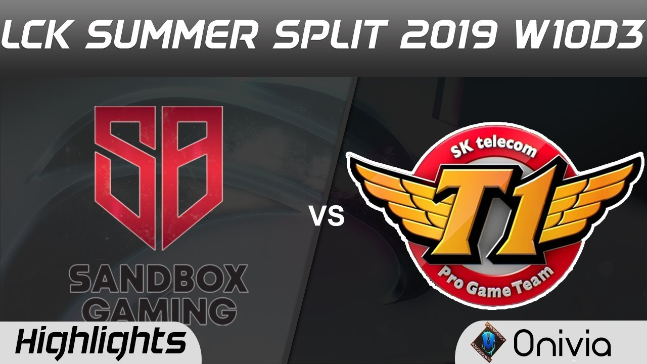SB vs SKT Highlights Game 1 LCK Summer 2019 W10D3 Sandbox Gaming vs SK Telecom Highlights by Onivia