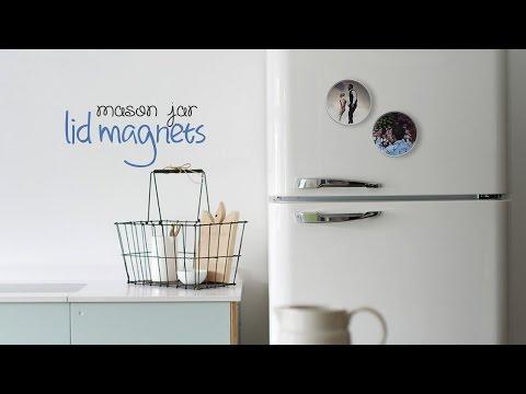 DIY: Jar Lid Magnets