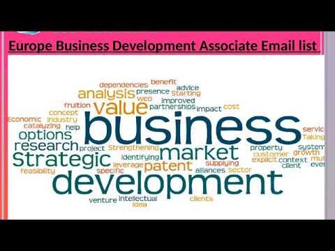 Europe Business Development Associate Email list