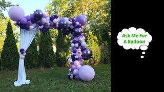 Purple Balloon Garland With 3D Butterflies - Balloon Decoration Tutorial