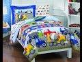 default - Dream Factory Trains Ultra Soft Microfiber Boys Comforter Set, Blue, Twin
