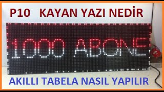 Kayan Yazı Akıllı Tabela Nasıl Yapılır-P10 Panel Led Tabela(How to install Led Display  Modules)