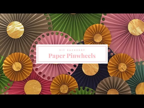 DIY paper rosette | paper pinwheel | paper fans for backdrop