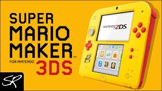 NEW Nintendo 2DS Super Mario Maker Edition Coming Black Friday!