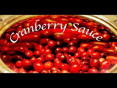 How To Make Cranberry Sauce ~ simple, easy & delicious recipe