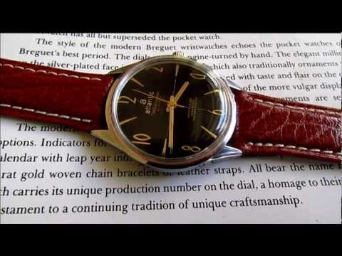 vintage atlantic worldmaster 21 jewels wristwatch