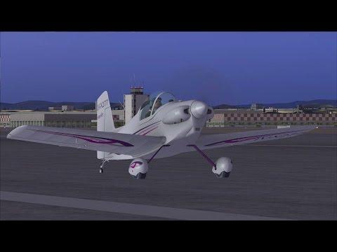 [FSX] Сircling flight on Corby Starlet