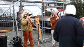 American Indians on the streets of Berlin (December 13, 2008)
