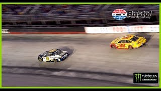 Chase Elliott grabs the lead at Bristol from Joey Logano thanks to ...