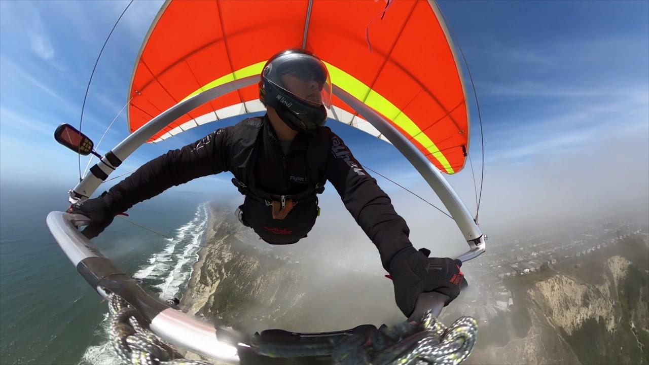 2021-06-05 Hanggliding Flight #70, 71, 72, 73 At Fort Funston