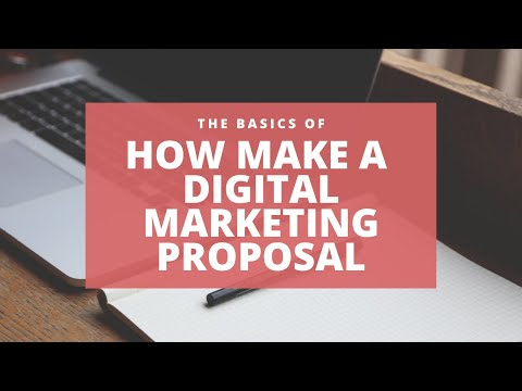 How to make a Digital Marketing Proposal in 2020