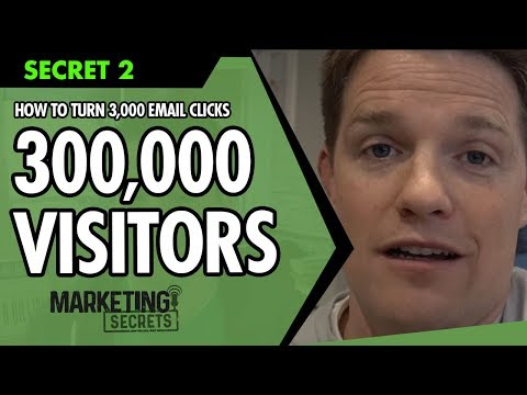 Marketing Secrets - Secret #2: How To Turn 3,000 Email Clicks Into 300,000 Visitors