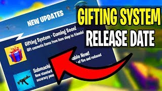 *NEW* Fortnite: GIFTING SYSTEM *RELEASE DATE* (Fortnite Battle Royale Leaks) Fortnite Birthday Event