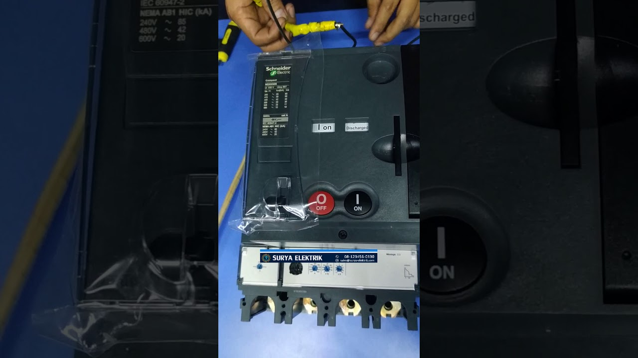 Mccb Breaker Schneider Electric Nsx400f  N  H Nsx630f  N  H 400a 630a 4p 4pole With Motor Motorized