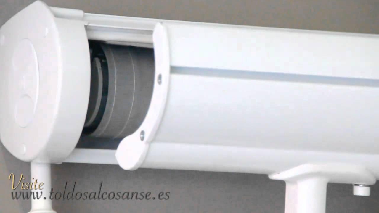 Toldos verticales con guias toldos motorizados madrid youtube - Toldos automaticos precios ...