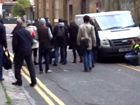 Idris Elba filming Luther in London - more